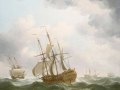Charles Brookings, East Indiamen in a Gale