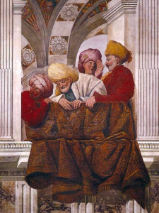 Painting in Rome of Safavid Persian Ambassadors
