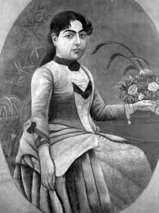 Portrait of Taj al-Saltaneh in European dress, artist unknown